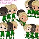 Boy and Girl Clip Art - 5 Boys, 5 Girls in General Poses x