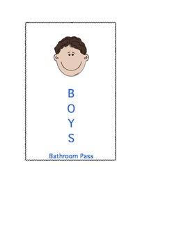 Boys Bathroom Pass
