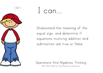 Boys Theme 1st grade math Common Core Posters first Grade