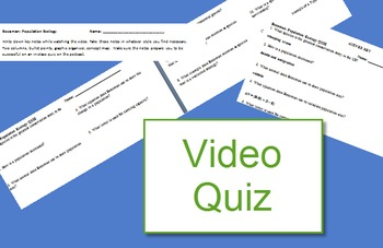 Bozeman: Population Variation quiz (population ecology video)