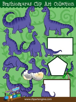Brachiosaurus Clip Art Collection