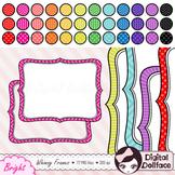 Bracket Frame Clipart Bundle, with chevron, stripes & polka-dots