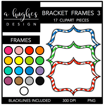 Bracket Frames 3: Chevron {Graphics for Commercial Use}