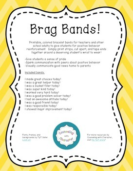 Brag Bands: Promoting Positive Behaviors