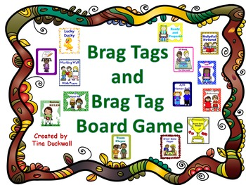 Brag Tag Cards and Brag Tag Board Game