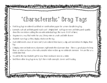 "Brag Tag ""Characteristic"" Tags"