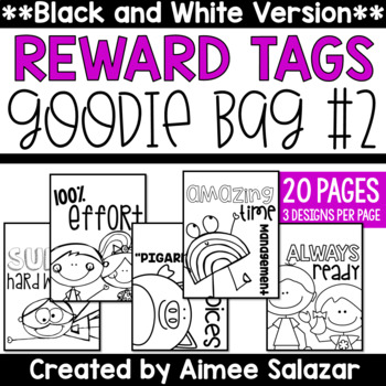 BLACK & WHITE Brag Tags {Goodie Bag #2)