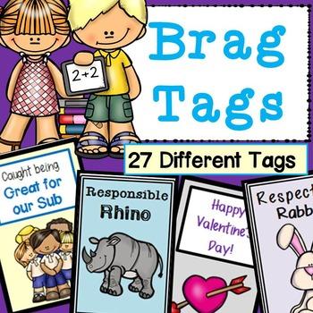 Brag Tags for Positive Behavior
