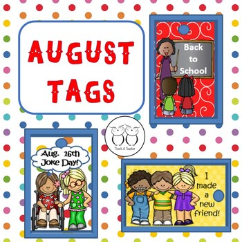 Brag Tags August Back to School - Make a New Friend! Aug.