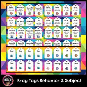 Behavior and Subject Brag Tags