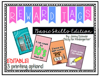 Brag Tags - Basic Skills Edition - Editable!