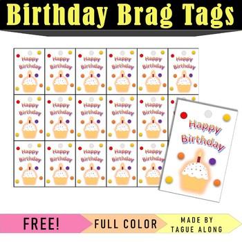 Brag Tags- Birthday Edition