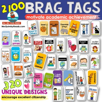 Brag Tags - Classroom Management -Citizenship and Academics