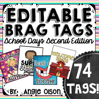 Brag Tags Editable School Days Second Edition (74 templates)