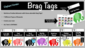 Brag Tags (Elephant Version)