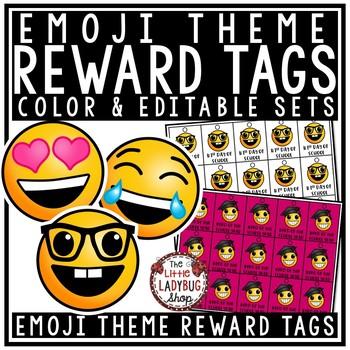 Emoji Brag Tags - EDITABLE Brag Tags