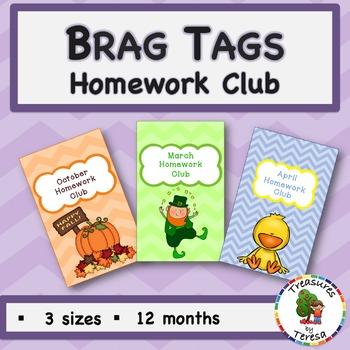 Brag Tags-Homework Edition