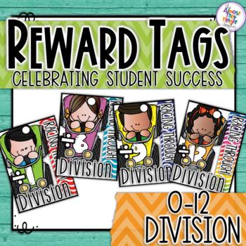 Brag Tags - Maths - Division - Racing Through Division 0-12