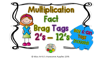 Brag Tags - Multiplication Facts