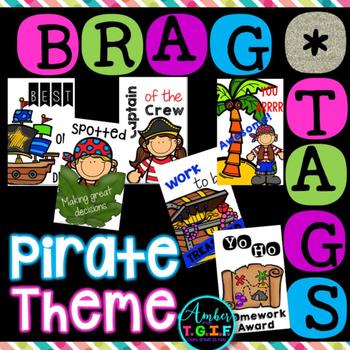 Brag Tags Pirate Theme