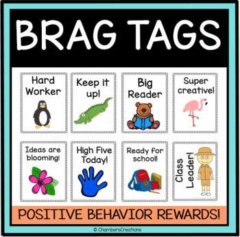 Brag Tags- Positive Behavior Support- BragTags Animal Edition