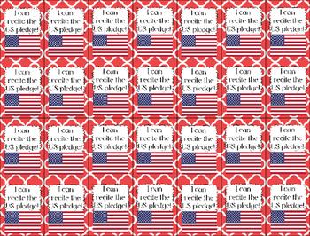 Brag Tags- Recite the US Pledge