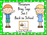 Brag Tags Set 1 Back to School for Early Childhood