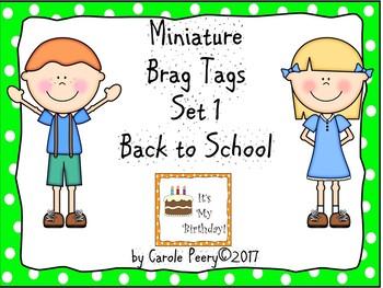 Brag Tags Set 1 Back to School