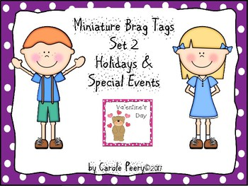 Brag Tags Set 2 Holidays for Early Childhood