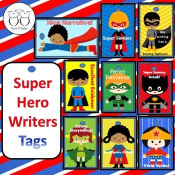 Brag Tags : Super Hero Writers