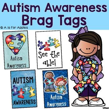 Brag Tags for Autism Awareness