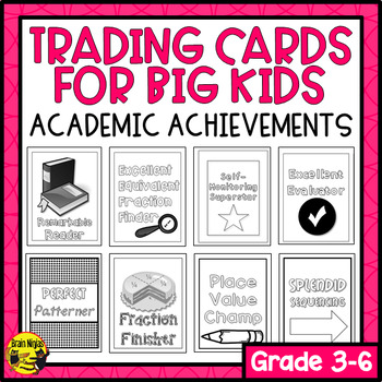 Brag Tags for Big Kids- Academic Achievements (Ink Saver)