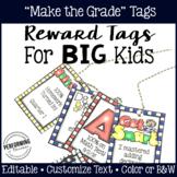 Brag Tags for Big Kids: Editable Academic Reward Tags