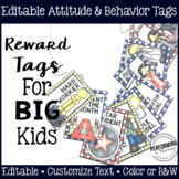 Brag Tags for Big Kids: Editable Behavior & Attitude Reward Tags