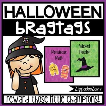 Halloween Brag Tags Sample - 1 designs - 15 per pg - Behav