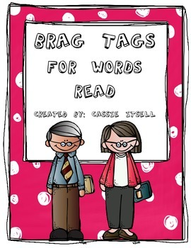 Brag Tags for Words Read Bundle