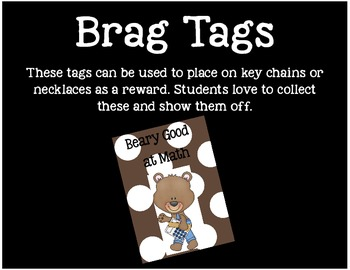Brag Tags or Behavior Tags: Beary Good at Math