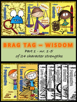 Brag tags - Wisdom - 24 character strengths