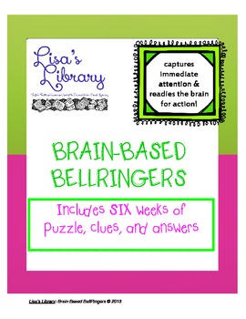 Brain Based BellRingers Packet 1 - 5-Minute Class Openers
