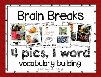 Brain Break 4 Pics, One Word