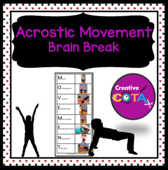 Brain Break Acrostic Movement exercise