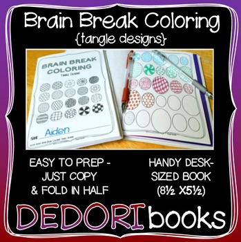 Brain Break Coloring Book – Tangle Designs