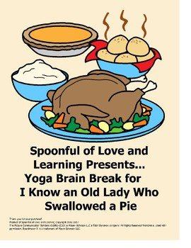 Thanksgiving Brain Break! Yoga poses for I Know an Old Lad