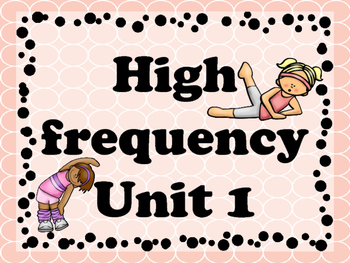 Brain Break with high frequency Unit 1 (journeys)