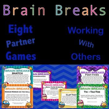 Brain Break: Daily Physical Activity - Partner games - Cla