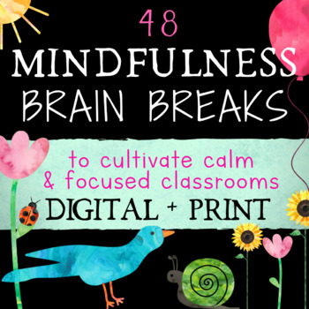 Brain Breaks: Mindfulness Activity Cards to Help Students
