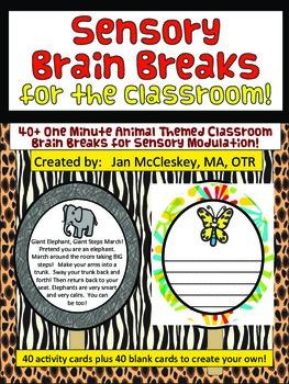 Brain Breaks for the Classroom - 1 minute Animal Themed Se