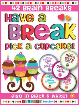 Brain Breaks for the Classroom - Take a break, pick a cupcake!