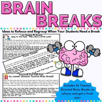 Brain Breaks or Ways to Encourage Children to Refocus in a