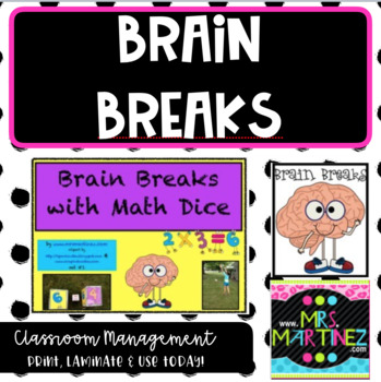 Brain Breaks with Math Dice